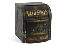 1900s-10s Mixed Spices Painted Tin Box