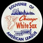 "1959 Chicago White Sox American League Champs 2 1/4"" Pinback Button"