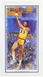"1989 Kareem Abdul Jabbar ""The Record Setter"" Signed 20""x 36"" Limited Edition Lithograph (JSA)"