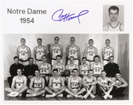 "1954 Paul Hornung Green Bay Packers Notre Dame Signed 11""x 14"" Basketball Team Photo *JSA*"