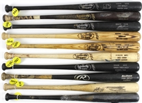 1986-2008 Professional Model Game Used Bat Collection - Lot of 20 w/ Dann Bilardello, Chuck Knoblauch, Ron Karkovice, Archi Cianfrocco, Ronnie Belliard & More (MEARS LOA)
