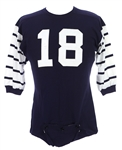1967 Navy/White #18 Game Worn King OShea Durene Football Jersey w/ 6 Button Crotch Piece (MEARS LOA)