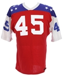 1960s Red/White/Blue #45 Game Worn Pres Brown Durene Football Jersey (MEARS LOA)