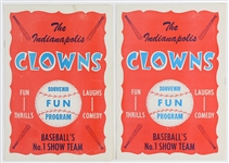 1960s Indianapolis Clowns Julius Sledge and Billy Vaughn Signed Souvenir Fun Programs (JSA)