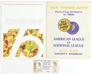 "1975 Milwaukee Brewers All-Star Game Magazine, Ticket Stub, and ""Old Timers"" Tribute"
