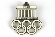"1936 Berlin Summer Olympics ""Games of the Olympiade"" Pin"