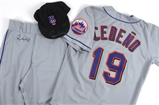 1999 Roger Cedeno New York Mets Game Worn Uniform (Lot of 3) (MEARS LOA) (JSA)