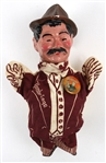 "1940s Umbriago Jimmy Durante 9"" Porcelain Bisque Hand-Painted Hand Puppet"