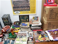 1950s - 1990s Football / Baseball / Basketball Lot (1,000 + Items)