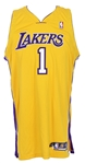 2005-06 Smush Parker Los Angeles Lakers Signed Game Worn Home Jersey (MEARS LOA/*JSA*)