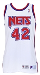 1994-95 PJ Brown New Jersey Nets Signed Game Worn Home Jersey (MEARS LOA/JSA)
