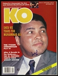 1993 Muhammad Ali Signed Knockout Boxing Magazine (JSA)