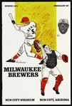 1975 Milwaukee Brewers Sun City Stadium Spring Program