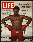 "1970 Muhammad Ali Signed ""Look Out - Hes Back"" Life Magazine (JSA)"