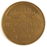 "1924 Paris Olympic High-Grade 2 1/4"" Participation Medal from the ""Chariots of Fire"" & Johnny Weissmuller Games"