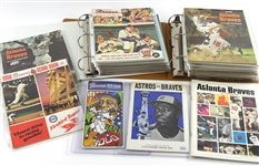 1950s-1970s Milwaukee / Atlanta Braves Score Cards, Yearbook, Programs, and Magazines (Lot of 40+)