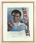 "1983 Muhammad Ali ""The Greatest"" Signed 26""x 32"" Framed Lithograph (JSA)"