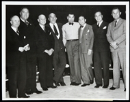 "1933 All-Star Boxing ""Old Timers"" Including Jack Dempsey, Jim Jeffries and more 7""x 9"" Photo"
