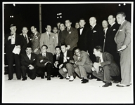 1930s Los Angeles Boxers Group Shot by Carroll w/ Braddock and many other HOFers