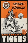 1962 Detroit Tigers vs Boston Red Sox Official Scorebook