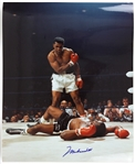 "1965 Muhammad Ali vs. Sonny Liston Signed 16""x 20"" Photo (JSA)"