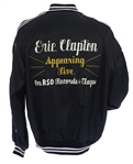 1970s Eric Clapton Appearing Live on RSO Records & Tapes Satin Jacket (MEARS LOA)