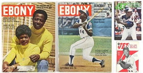 1950s-1970s Hank Aaron Milwaukee Braves Jet and Ebony Magazines (Lot of 4)