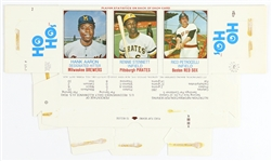 1975 Hank Aaron / Rennie Stennett / Rico Petrocelli Hostess Ho Hos Box Player Cards