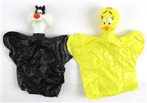 "1950s Sylvester & Tweety Looney Tunes 9"" Hand Puppets"