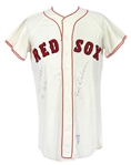 1960s Joe Dobson Boston Red Sox Signed Home Jersey (MEARS LOA/JSA)