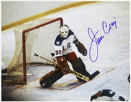 "1980 Jim Craig Winter Olympics Signed 11""x 14"" Photo (JSA)"