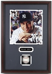 "1995-2014 Derek Jeter New York Yankees Signed Baseball & 16""x 23"" Framed Photo (JSA)"