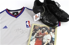 2006-09 Bob Delaney NBA Referee Signed Game Worn Jersey & Sneakers Plus Signed Photo - Lot of 3 (MEARS LOA/JSA)