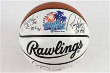 1999 George Gervin Rick Barry Artis Gilmore Multi Signed 1999 Final Four Basketball (JSA)
