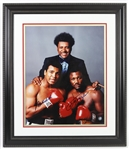 "1970s Muhammad Ali & Joe Frazier Signed 25""x 29"" Framed Photo (PSA/DNA)"