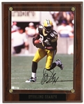 "1990s Sterling Sharpe Green Bay Packers Signed 11"" x 13"" Wall Display (JSA)"