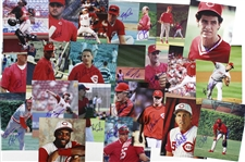 "1980s-2000s Chicago Cubs and Cincinnati Reds Signed 8""x 10"" Photos Including Steve Trout, Larry Sorensen, and more (Lot of 100+)(JSA)"