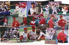 "1970s-2000s Cincinnati Reds Signed 8""x 10"" Photos Including Dusty Baker, Dave Collins, Herm Winningham, and more (Lot of 100+)(JSA)"