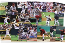 "1990s-2000s Miami Marlins / Arizona Diamondbacks / Seattle Mariners Signed 8""x 10"" Photos (Lot of 100+)(JSA)"