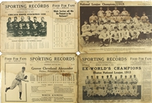 1915 Sporting Records Including Baseball, Boxing, Auto Racing and more (Lot of 20+)