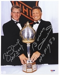 1950s-1990s Bobby Hull and Brett Hull Autographed 8x10 Color Photo (PSA/DNA)