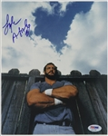 1971-1978 Lyle Alzado Denver Broncos Autographed 8x10 Color (PSA/DNA)