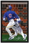 "2002 Sammy Sosa Chicago Cubs Signed 21""x 31"" Framed Giclee (JSA)"