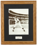 "1950-1967 Whitey Ford New York Yankees Signed 19""x 23"" Framed Photo (JSA)"