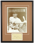 "1928-1946 Bill Dickey New York Yankees Signed 18""x 24"" Framed Photo (JSA)"