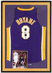 "2003 Kobe Bryant Los Angeles Lakers Signed 29""x 42"" Framed Jersey (Tristar)"