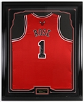 "2008-2010 Derrick Rose Chicago Bulls Signed 36""x 44"" Framed Jersey *JSA Full Letter*"
