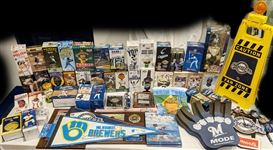 1980s-2000s Milwaukee Brewers Bobble Heads, Pennants, Books and more (Lot of 100+)