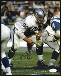 "1960-1974 Jim Otto Oakland Raiders Signed 8""x 10"" Photo *JSA*"