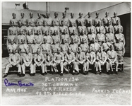 "1945 Carmen Basilio Platoon 134 Signed 8""x 10"" Photo (MEARS LOA)"